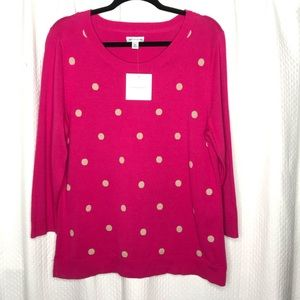 NWT! Croft & Borrow Pok a Dot Sweater Size XLarge